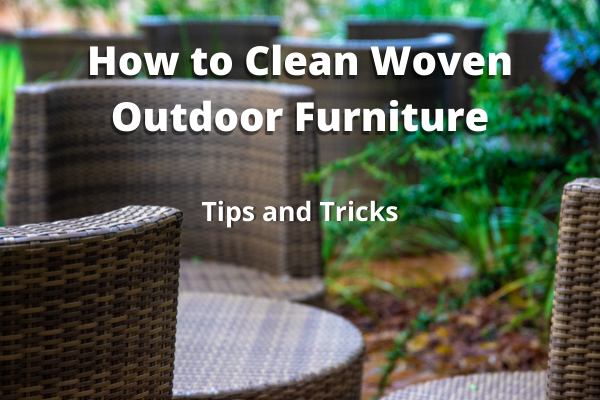 Clean woven outdoor furniture